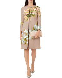 Hobbs - Francine Floral Coat - Lyst