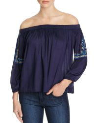 Kas - Dai Embroidered Off-the-shoulder Top - Compare At $95 - Lyst