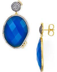 Freida Rothman - Faceted Blue Agate Drop Earrings - Lyst