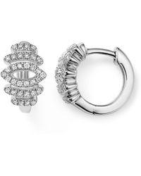 Dana Rebecca - 14k White Gold Lori Paige Diamond Huggie Earrings - Lyst