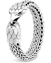 John Hardy - Sterling Silver Legends Eagle With Black Chalcedony Eyes Flat Chain Bracelet - Lyst