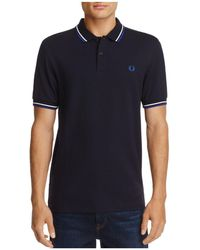 Fred Perry - Tipped Piqué Slim Fit Polo Shirt - Lyst