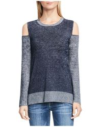 Two By Vince Camuto - Cold Shoulder Colour Block Jumper - Lyst