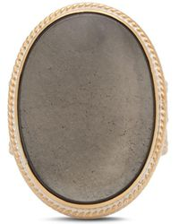Anna Beck - Smoky Pyrite Cocktail Ring In 18k Gold - Plated Sterling Silver - Lyst