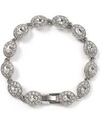 Carolee - Topaz Oval Stone Flex Bracelet - Lyst
