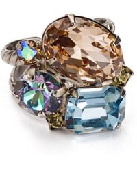 Sorrelli - Stone Cluster Adjustable Cocktail Ring - Lyst