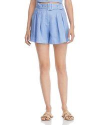 Suboo - Azure Belted High - Waist Shorts - Lyst