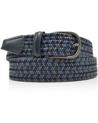 Andersons - Leather Stretch Woven Belt - Lyst