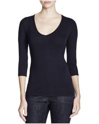 Majestic Filatures - Majestic Three Quarter Sleeve Tee - Lyst