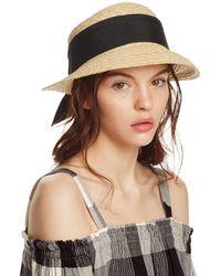Aqua Straw Cloche Hat With Bow Back