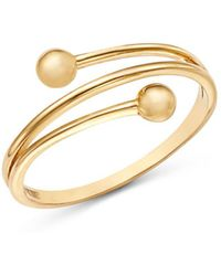 Moon & Meadow - Beaded Band Ring In 14k Yellow Gold - Lyst