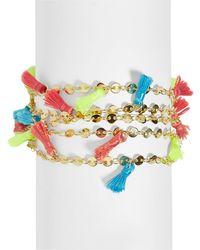BaubleBar - Rica Multicolour Tassel Bracelet - Lyst