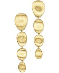 Marco Bicego - 18k Yellow Gold Engraved Drop Earrings - Lyst