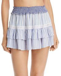 52143fbde4542 Surf Gypsy - Striped Combo Mini Skirt Swim Cover-up - Lyst