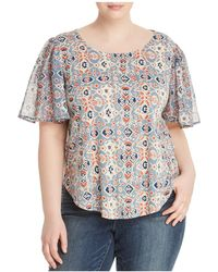 Lucky Brand - Mosaic-print Keyhole Top - Lyst