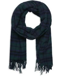 The Kooples - Wool Checked Scarf - Lyst