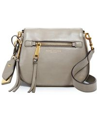 5c937c5ef814 Lyst - Marc Jacobs Chipped Stud Recruit Small Saddle Bag in Black