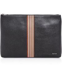 Paul Smith - Multistripe Leather Portfolio - Lyst