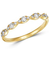 Bloomingdale's - Diamond Stacking Ring In 14k Yellow Gold - Lyst