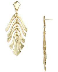 Kendra Scott - Luca Abstract Leaf Drop Earrings - Lyst