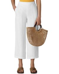 Whistles - Cropped Wide - Leg Linen Pants - Lyst