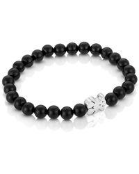Tous - Onyx Bear Charm Bracelet - Lyst