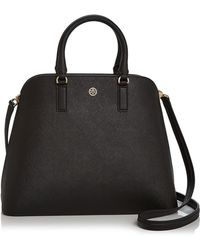 Tory Burch - Robinson Leather Dome Satchel - Lyst