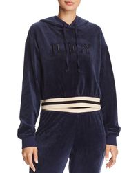 Juicy Couture - Luxe Velour Logo Hoodie - Lyst