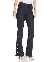 Elie Tahari - Cassondra Button Flare Jeans In Indigo - Lyst
