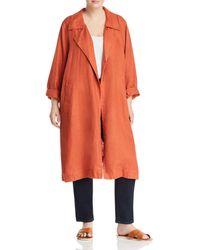 Eileen Fisher - Organic Linen Open Trench Coat - Lyst