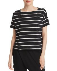 Eileen Fisher - Striped Boatneck Top - Lyst