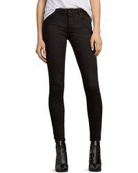 AllSaints - Mast Skinny Jeans In Jet Black - Lyst