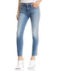 Aqua - Track Stripe Skinny Jeans In Indigo - Lyst