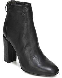 Via Spiga - Women's Nadia Leather High Block Heel Booties - Lyst