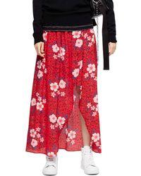 Zadig & Voltaire - Josia Pensee Floral-print Silk Maxi Skirt - Lyst