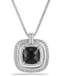 David Yurman - Châtelaine Pavé Bezel Necklace With Black Onyx And Diamonds - Lyst