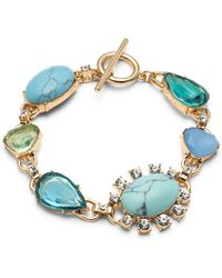 Carolee - Gold-tone Crystal & Multi-stone Flex Bracelet - Lyst