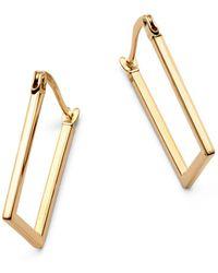 Moon & Meadow - Rectangular Hoop Earrings In 14k Yellow Gold - Lyst