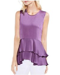 Vince Camuto - Tiered-peplum Top - Lyst