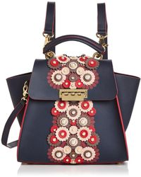 Zac Zac Posen - Eartha Floral Leather Applique Convertible Backpack - Lyst