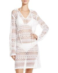 Boho Me - Hooded Mini Dress Swim Cover-up - Lyst