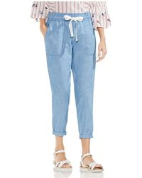 Vince Camuto - Chambray Drawstring Trousers - Lyst