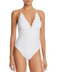 La Blanca - Solid Petal One Piece Swimsuit - Lyst