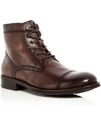Kenneth Cole - Men's Design Leather Cap Toe Boots - Lyst