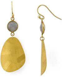 Chan Luu - Labradorite Drop Earrings In 18k Gold-plated Sterling Silver - Lyst