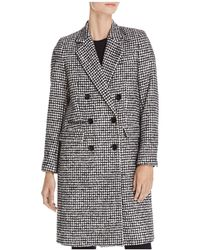 The Kooples - Mark Graphic Houndstooth-style Coat - Lyst