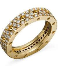 Roberto Coin - 18k Yellow Gold Pois Moi Diamond Pavé Ring - Lyst
