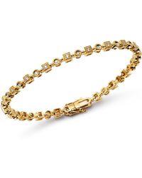 KC Designs - 14k Yellow Gold Geometric Diamond Link Bracelet - Lyst