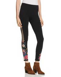 Johnny Was - Katina Embroidered Leggings - Lyst