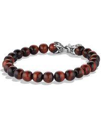 David Yurman - Spiritual Beads Bracelet With Red Tiger Eye - Lyst